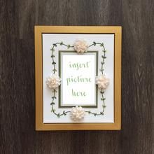 Items similar to The Hunter Display Frame-Hand Embroidered Silk Ribbon Flower Picture Frame on Etsy Flower Picture Frames, Wood Picture Frames, Wedding Programs, Wedding Invitations, Creative Wedding Gifts, Birth Announcement Girl, Photo Corners, Frame Display, Chrysanthemum