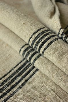 Rare black striped grain sack !
