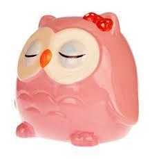 Image result for pink ceramic owl