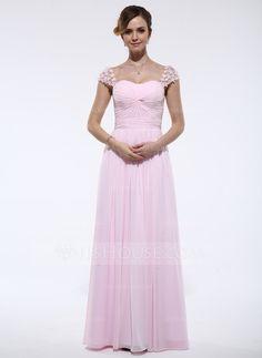 Evening Dresses - $135.99 - A-Line/Princess Sweetheart Floor-Length Chiffon Tulle Evening Dress With Ruffle Beading Flower(s) (017045215) http://jjshouse.com/A-Line-Princess-Sweetheart-Floor-Length-Chiffon-Tulle-Evening-Dress-With-Ruffle-Beading-Flower-S-017045215-g45215