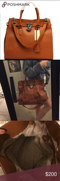 Michael Kors Carmel leather handbag Michael Kors Carmel leather handbag. Only used a couple times! In great condition. Comes with Michael Kors draw string bag that it came in!💛 Michael Kors Bags Satchels