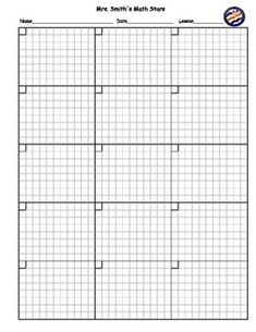 This homework sheet was designed to help students keep their math assignments and homework neat, organized and easy to read.  The grid boxes help keep number columns lined up which can help prevent mistakes for the students with not-so-neat printing.  There is space to do 15 problems on the front and 15 problems on the back.CUSTOMIZE THIS FOR YOUR CLASS OR SCHOOL!!Before you purchase this, send me a message with the information you would like to have for a custom header and logo or image.