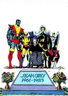 Funeral of Jean Grey by John Byrne
