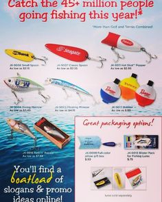 Your brand is reeling in the big fish with your logo on these lures! Did you know you can make a direct mail piece or #event #invitation out of these? Ask us how.  More info: http://ift.tt/2p5gKaH  #boat #fish #fishing #lure #bait #camping #outdoors #nature #water #river #lake #stream #bass #cast #rod #line #hook #bobber #photooftheday #instagood #brand #logo #swag #marketing #promo #idea #tradeshow