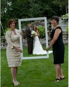 Mom and mother-in-law wedding  picture