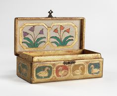 Box Charles Prendergast  ca. 1932 at Williams College Museum of Art. The decorative motifs that Charles used gives the object a primitive or folk art appearance.