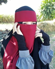 Saved from another pinner . Muslim Faith, Niqab Fashion, Face Veil, Hijab Niqab, Muslim Women, Model, Crown, Beauty, Beautiful