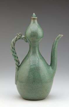 Goryeo period, first half of century Korea Stoneware with celadon glaze x x cm Gift of Charles Lang Freer Freer Gallery of Art Pottery Teapots, Ceramic Teapots, Pottery Art, Ceramic Art, Korean Art, Asian Art, Korean Pottery, Freer Gallery, Cute Teapot