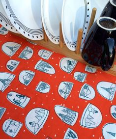 Snow Globes Christmas Dish Mat Drying Mat by MakingSomethingHappy
