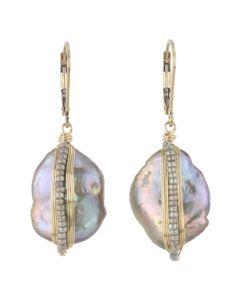 Stanley Korshak | Dana Kellin Beaded Wrap Pearl Earrings