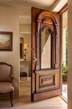 : Give your home country charm with Farmhouse Decor - Modern Inspiration Style Southwestern Decor - Modern Wooden Doors, Wooden Main Door Design, Wood Design, Southwestern Decorating, Southwestern Home Decor, Southwestern Style, Antique Doors, Vintage Doors, Western Homes
