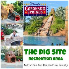 Disney's Coronado Springs Dig Site Recreation Area   One of the attractions to staying at Disney's Coronado Springs Resort is the recreation options.  In addition to the quiet pools located in each of the three sections of the resort