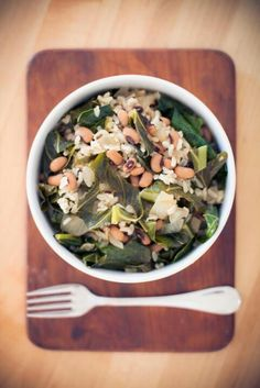 New years food with collard greens and black eyed peas. Dr. Laji James, Pediatric Dentistry - pediatric dentist in Houston, TX @ kidsdentistofhouston.com