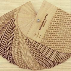 Create a bendable wood and acrylic with these template.