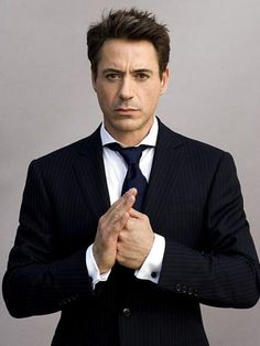 Robert Downey Jr. in a suit