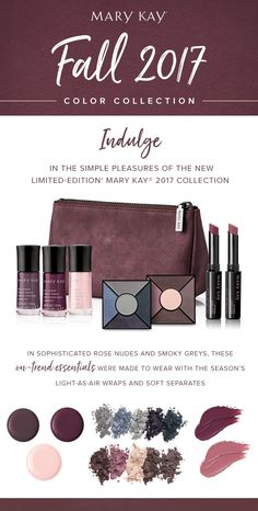 Looking for the best way to stay on-trend this fall? Dive into jewel tones, covetable semi-matte lip shades, luxurious eye palettes, and scratch-resistant nail lacquers with the limited-edition Mary Kay® Fall 2017 Color Collection. | Mary Kay