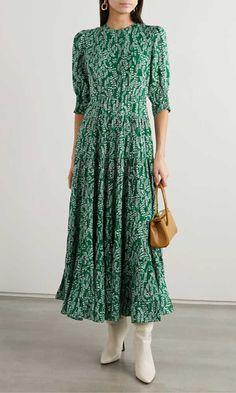 RIXO - Kristen tiered floral-print cotton and silk-blend midi dress New Dress, Dress Up, Ruffle Dress, Dress Outfits, Fashion Dresses, Midi Dress Sale, Robes Midi, Printed Cotton, Beautiful Dresses