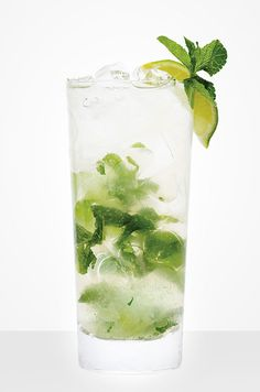 """Sometimes all it takes to jazz up an old standby and make it really exciting is a simple twist. In this case the """"twist"""" is a small handful of mint leaves. Cocktail Recipe: Vodka Tonic With Mint"""