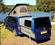 Doubleback rear slide out VAN buscamper op Volkswagen T5