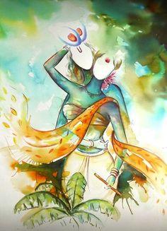 """Radha kishan""by shankar rajput Lord Krishna Images, Radha Krishna Pictures, Radha Krishna Photo, Krishna Art, Shree Krishna, Radha Krishna Paintings, Hanuman, Composition Painting, Indian Art Paintings"