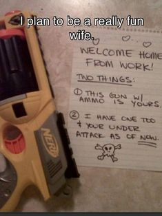 Whoever I marry will have to look forward to this.