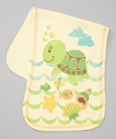 Take a look at this Lime Turtle Burp Cloth by Clever Birds on #zulily today!