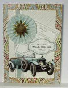Well Wishes All About Him Guy Man Handmade Greeting Card Anna Griffin Inspired #Handmade #ThinkingofYou