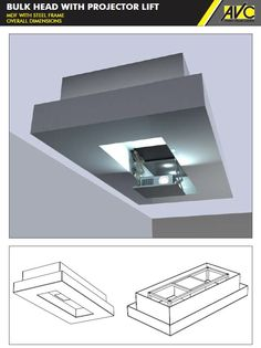 Custom Ceiling bulkhead with integrated motorised projector lift