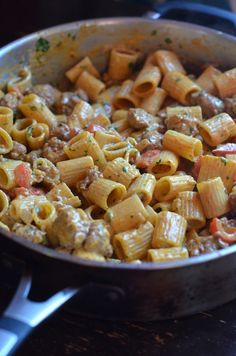 Rigatoni with Chorizo and Spicy Chipotle Cream Sauce - Always Order Dessert