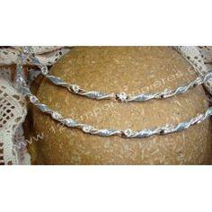 Στέφανα γάμου επάργυρα   123-mpomponieres.gr Bracelets, Silver, Jewelry, Fashion, Moda, Jewlery, Jewerly, Fashion Styles, Schmuck