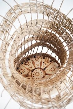 painted basket from TW workshop