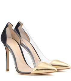 mytheresa.com - Plexi leather and transparent pumps - Luxury Fashion for Women / Designer clothing, shoes, bags