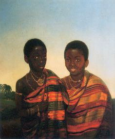 Ashanti princes Aquasi Boachi and Quamin Poko by JL Cornet (1840).