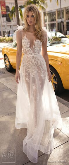 MUSE by BERTA Spring 2019 Wedding Dresses - City of Angels Bridal Collection | Non Strapless lace wedding dress for the modern bride | A line bridal gown with over skirt | Unique a line bridal dress | #weddingdress #weddingdresses #bridalgown #bridal #bridalgowns #weddinggown #bridetobe #weddings #bride #weddinginspiration #weddingideas #bridalcollection #bridaldress #fashion #dress See more gorgeous bridal gowns by clicking on the photo