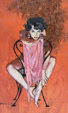 Robert McGinnis, for the cover of You Can't Live Forever, by Hal Masur, Dell D329, 1959