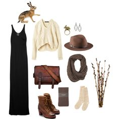 A fashion look from January 2013 featuring black fitted dress, hand knit socks and Hobbs. Browse and shop related looks.