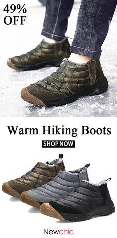 49%off Men Outdoor Waterproof Anti-collision Wearable Warm Lined Hiking  Boots 6e90aa7b1b71