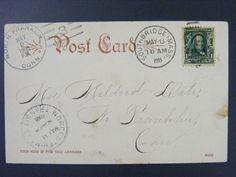 North Franklin Connecticut New London Co 1905 Type 2/3 Doane Cancel EKU Postcard
