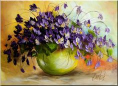 Flower painting by Polish artist Ewa Bartosik Paintings