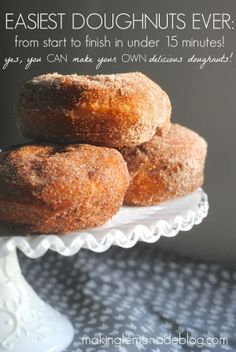 SUPER EASY Homemade Doughnuts! Find out the secret to making delicious doughnuts at home in just minutes!