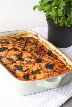 Lasagne van zoete aardappel, Vegetarische lasagne recepten, Zoete aardappel recepten, Glutenvrije lasagne, Lasagne zonder pasta, Gezonde foodblogs, Beaufood recepten, Glutenvrije foodblogs