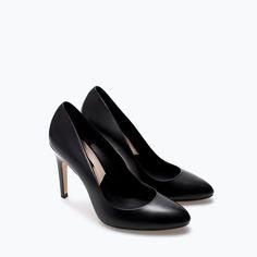LEATHER COURT SHOE - High - heels - Shoes - WOMAN | ZARA Greece