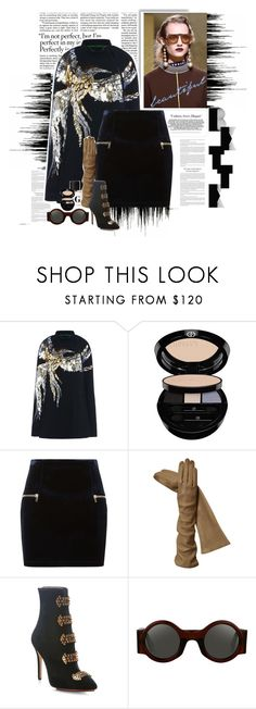 """the gloved one"" by holjon2110 ❤ liked on Polyvore featuring Barbara Bui, Giorgio Armani, Prada and Sandro"