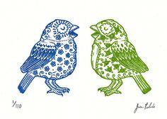 Sugar Skull Birds by Jose Pulido. Love birds on a wall Street Art, Future Tattoos, Bird Feathers, Blue Bird, Tattoo Inspiration, Screen Printing, Tatting, Cross Stitch, Artsy
