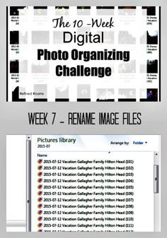 Week 7 – Rename Images {Digital Photo Organizing Challenge}