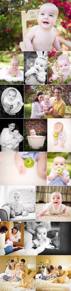 6 months - eating an apple