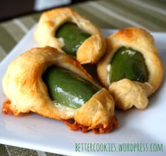 Swaddled Jalapeno Peppers made with Immaculate Baking crescent rolls #gameday #appetizers