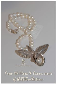 Artisan jewelry from therdbcollection.com using beautiful freshwater pearls and an extraordinary sterling lily set with one large pearl...a real statement piece