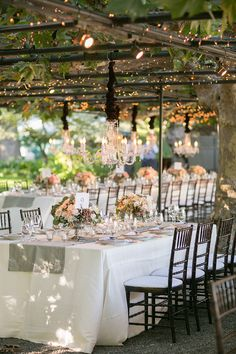 Traditionally Elegant California Garden Wedding Beautiful tables: www. Cleveland, Luxury Wedding Decor, Rustic Wedding, Wedding Lighting, Event Planning Tips, Wedding Planning, Romantic Weddings, White Weddings, Here Comes The Bride