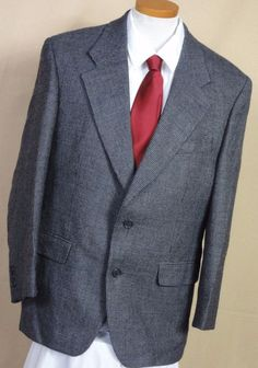 Brandini Multi Color Vintage Tweed Wool 2 Button Sport Coat Size 42R #Brandini #TwoButton